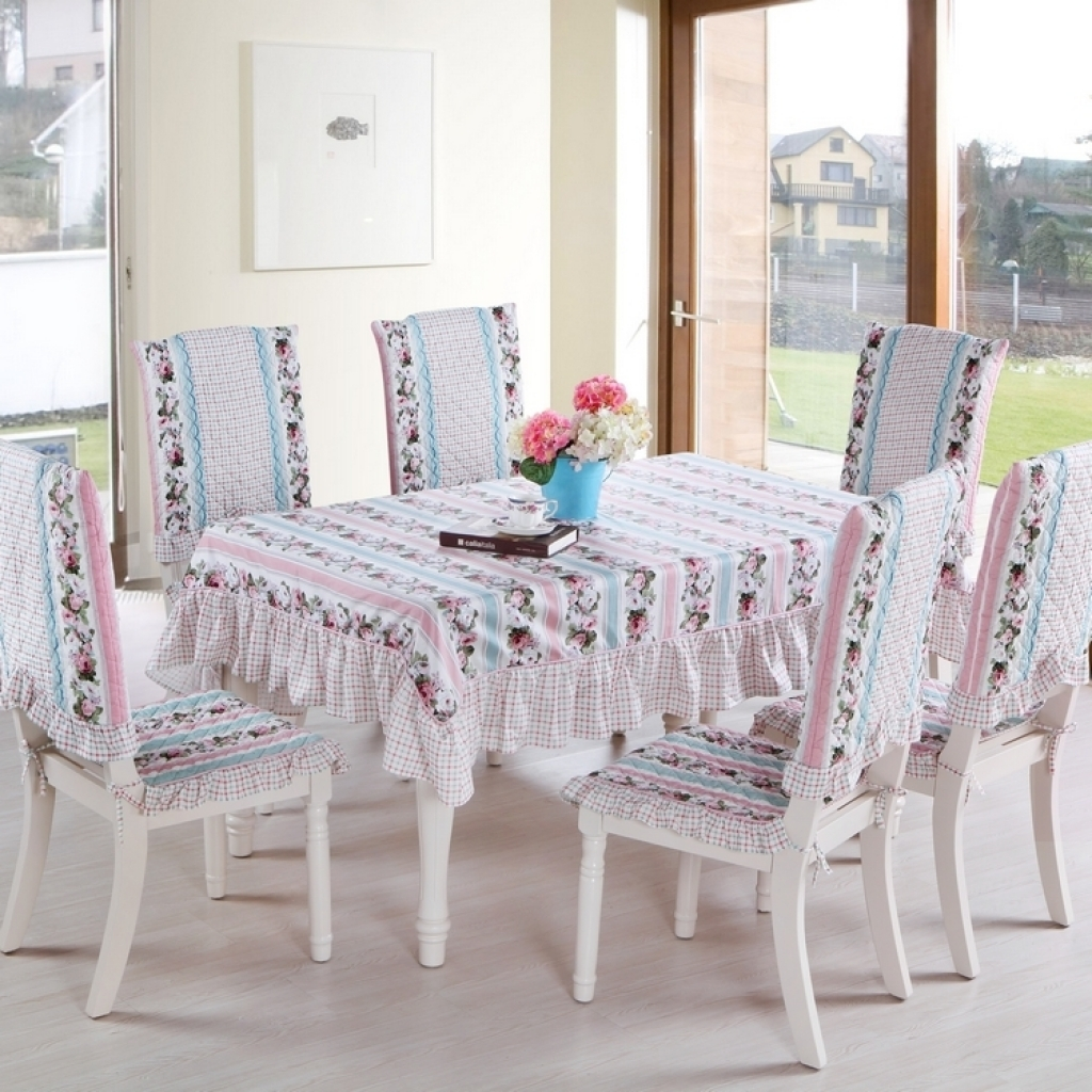 Dining table chair seat covers